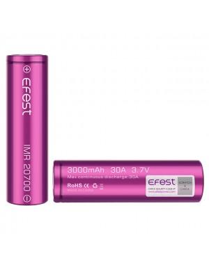 Efest 20700 3000mAH 30A (five leg) rechargeable battery