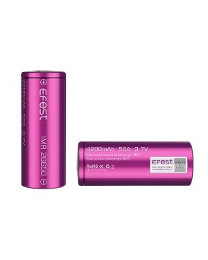 Efest 26650 4200mAH 50A rechargeable battery (Max continuous Discharger rate: 35A)