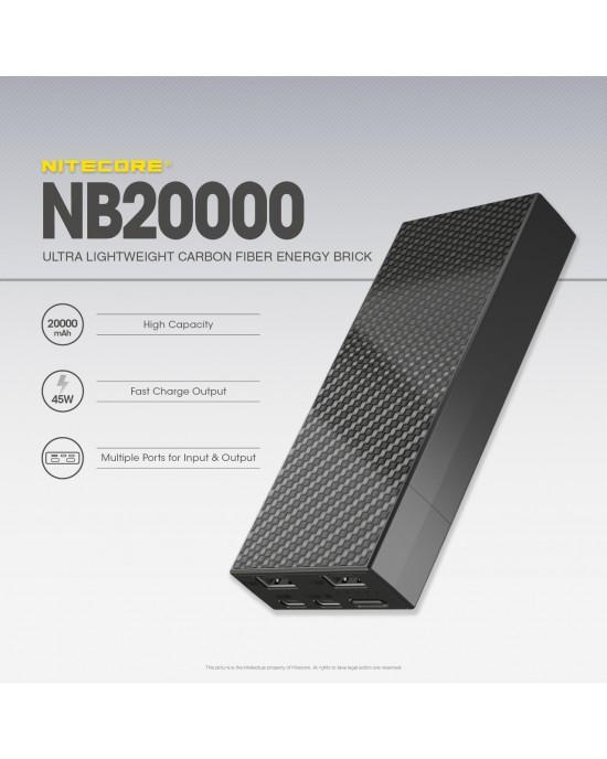 NITECORE NB20000 20000mAh Lightweight Power Bank