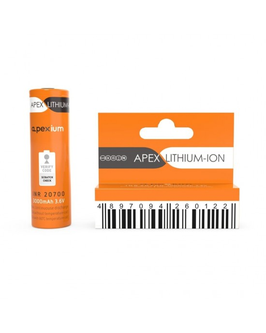 Apexium 20700 3000mAh 25A rechargeable Battery