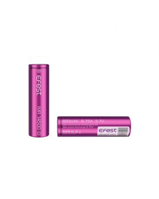 Efest 14500 650mAh 9.75A rechargeable battery