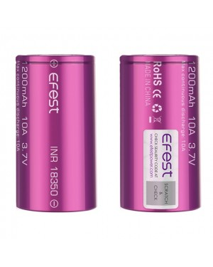 EFEST 18350 1200MAH 3.7V 10A RECHARGEABLE BATTERY