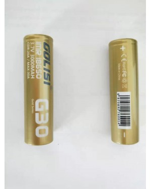 Golisi G30 18650 3000mAh 20A rechargeable battery