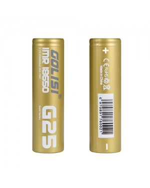 Golisi G25 18650 2500mAh 20A rechargeable battery with battery case