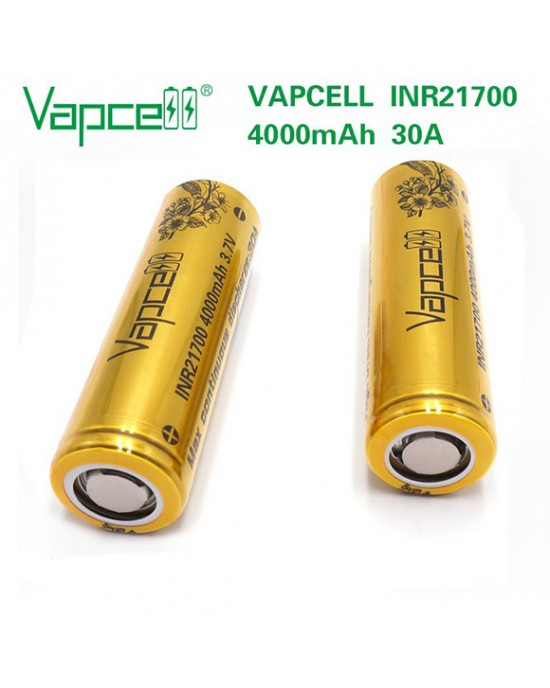 VapCell 21700 4000mAh 30A rechargeable battery (40T)