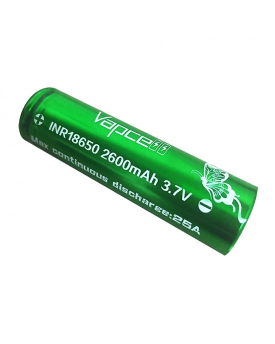 VapCell 18650 2600mAh 25A rechargeable battery