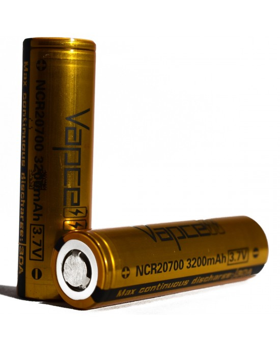 VapCell 20700 3200mAh 30A rechargeable battery