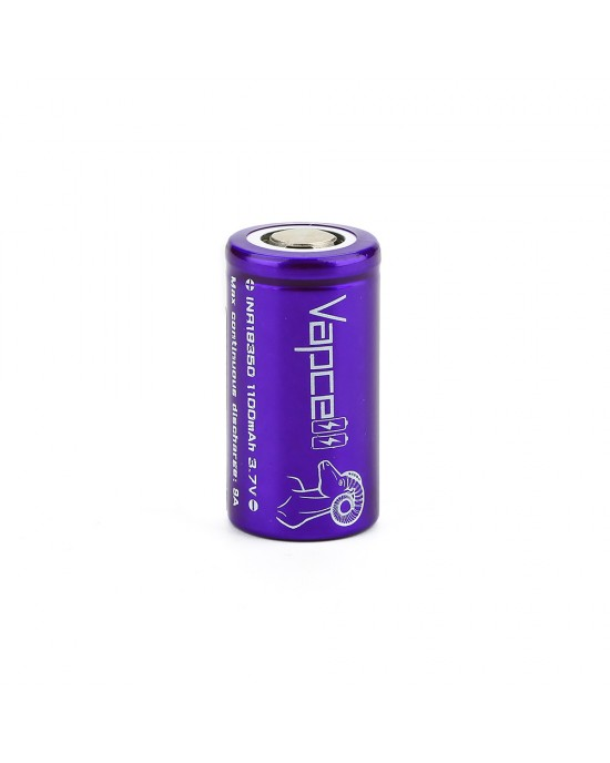 VAPCELL 18350  1100MAH 9A RECHARGEABLE BATTERY