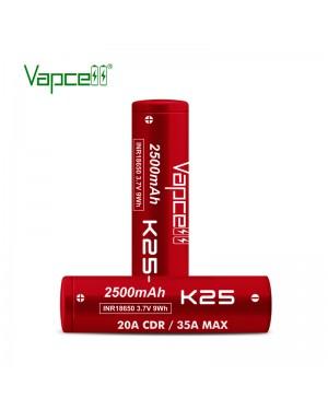 Vapcell 18650 K25 2500mah 20A/35A