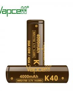 Vapcell K40 21700 4000mah 30A/45A