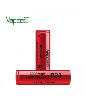 Vapcell R30 18650 3000mah 18A/35A rechargeable battery