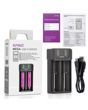 Efest Mega USB Li-ion battery and AA/AAA Battery Charger