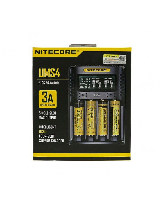 Nitecore UMS4 3A USB Charger