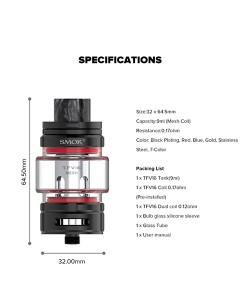 SMOK TFV16 Tank FDA Package 9ml