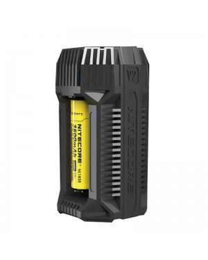 Nitecore V2 6A In-Car Speedy Battery charger 2 bay USB  charger (With 12V LIGHTER ADAPTER AND USB PORTS FOR 18650 RCR123A 17650 17670 14500 AA C AND MORE)
